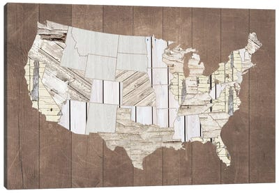 The Patchwork Of America Canvas Art Print