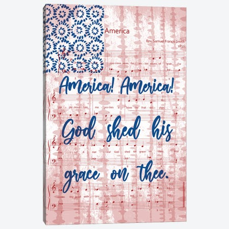 God Shed His Grace On Thee Canvas Print #FPP310} by Front Porch Pickins Canvas Art Print