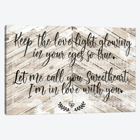I'm In Love With You Canvas Print #FPP314} by Front Porch Pickins Canvas Wall Art