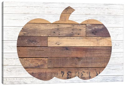 Pallet Pumpkin Canvas Art Print