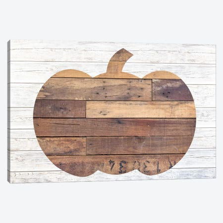 Pallet Pumpkin Canvas Print #FPP35} by Front Porch Pickins Canvas Art