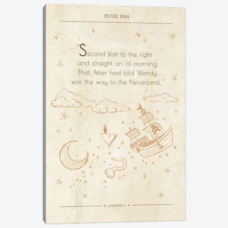 Peter Pan Canvas Print #FPP36} by Front Porch Pickins Canvas Wall Art