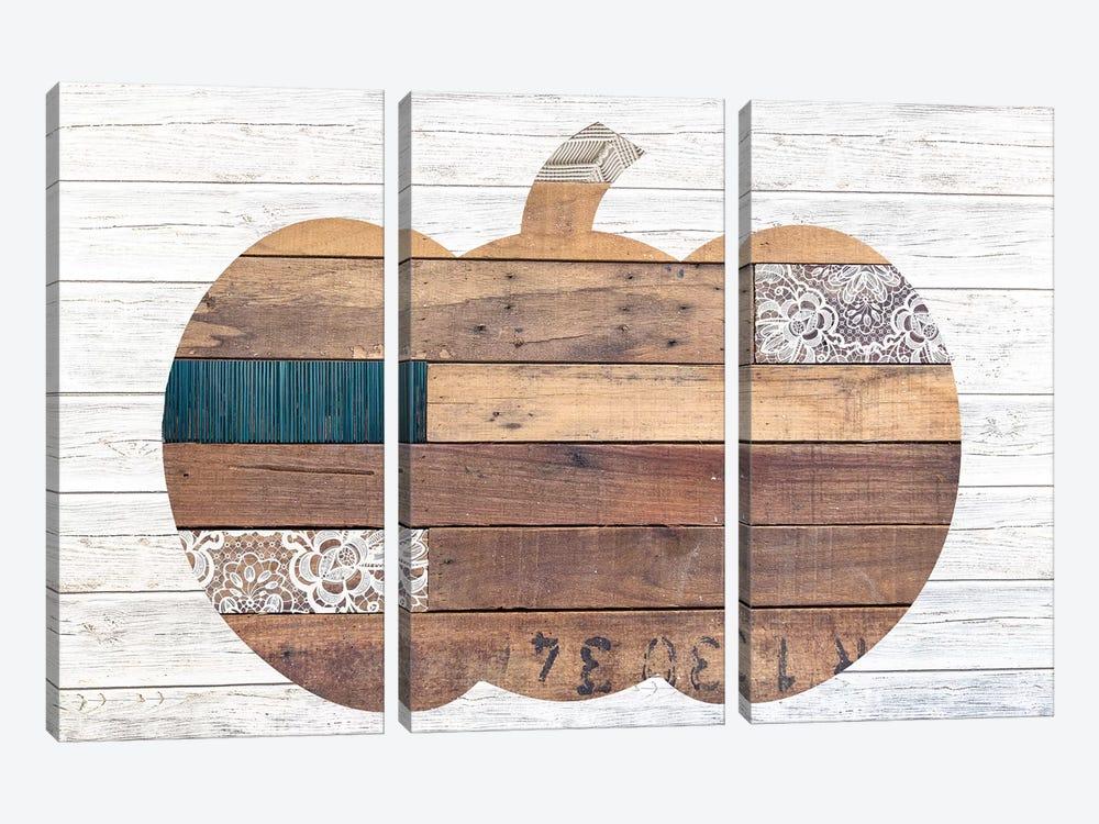 Pumpkin by Front Porch Pickins 3-piece Canvas Art Print