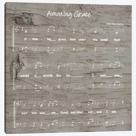 Amazing Grace Sheet Music Canvas Print #FPP3} by Front Porch Pickins Canvas Wall Art