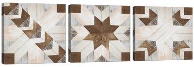 Barn Quilt I Triptych Canvas Art Print