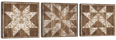 Barn Quilt III Triptych Canvas Art Print