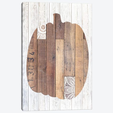 Pumpkin White II Canvas Print #FPP41} by Front Porch Pickins Canvas Wall Art