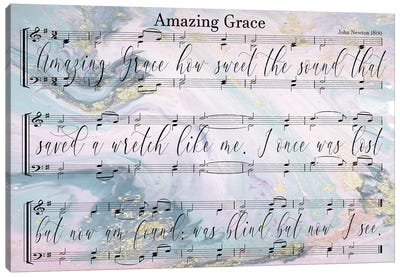 Amazing Grace Sheet Music With Lyrics Canvas Art Print