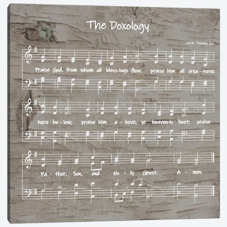 The Doxology Sheet Music Canvas Print #FPP57} by Front Porch Pickins Canvas Art