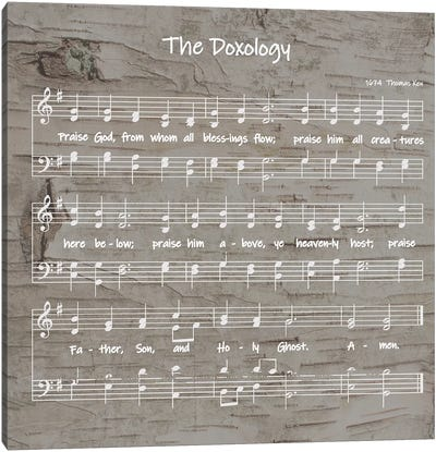 The Doxology Sheet Music Canvas Art Print
