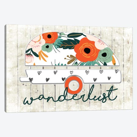 Trailer Wanderlust I Canvas Print #FPP58} by Front Porch Pickins Art Print