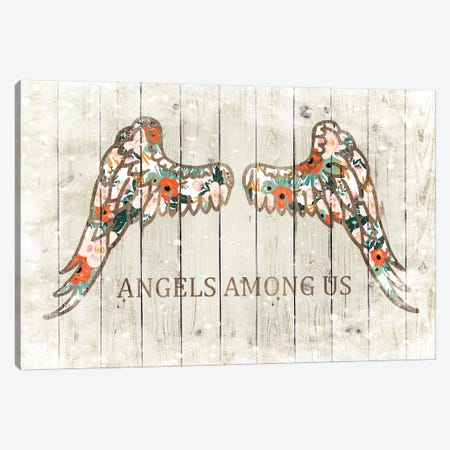 Angels Among Us Canvas Print #FPP5} by Front Porch Pickins Art Print