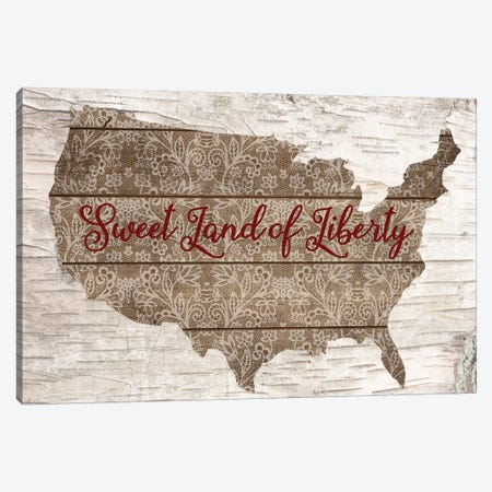 Sweet Land Of Liberty 3-Piece Canvas #FPP63} by Front Porch Pickins Canvas Wall Art