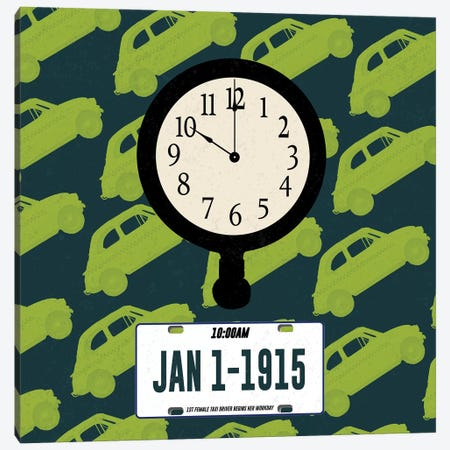 First Female Taxi Driver Canvas Print #FPP66} by Front Porch Pickins Art Print