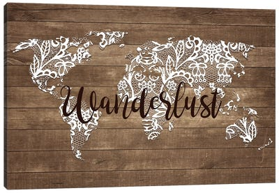 Wanderlust Map Canvas Art Print