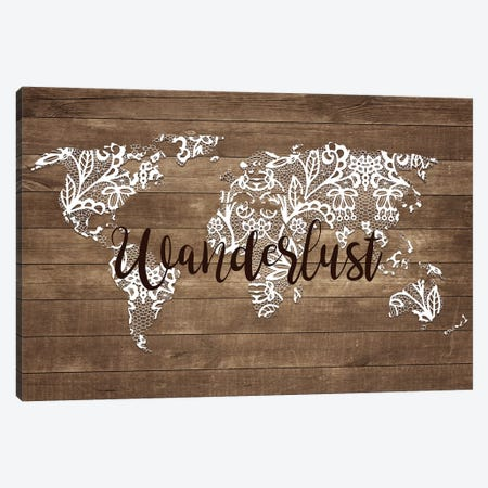 Wanderlust Map Canvas Print #FPP73} by Front Porch Pickins Canvas Art Print