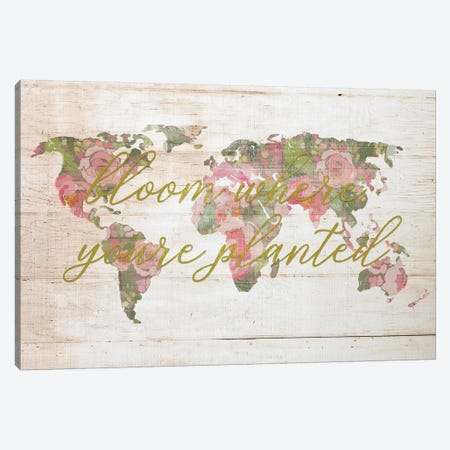 Bloom Map Canvas Print #FPP74} by Front Porch Pickins Canvas Artwork