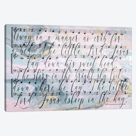 Away In A Manger Lyrics Canvas Print #FPP7} by Front Porch Pickins Art Print