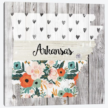 Arkansas Canvas Print #FPP82} by Front Porch Pickins Canvas Wall Art