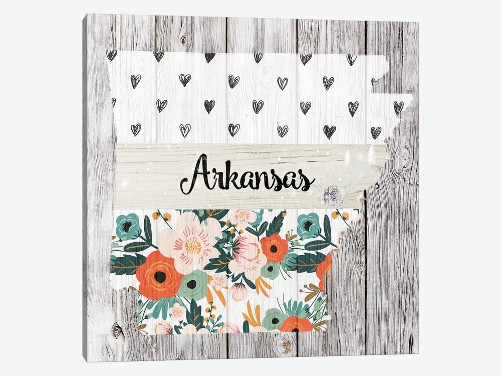 Arkansas by Front Porch Pickins 1-piece Canvas Art Print
