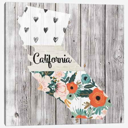 California Canvas Print #FPP83} by Front Porch Pickins Canvas Wall Art
