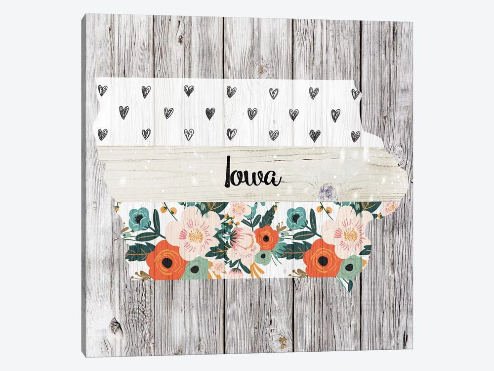 Iowa by Front Porch Pickins 1-piece Canvas Wall Art