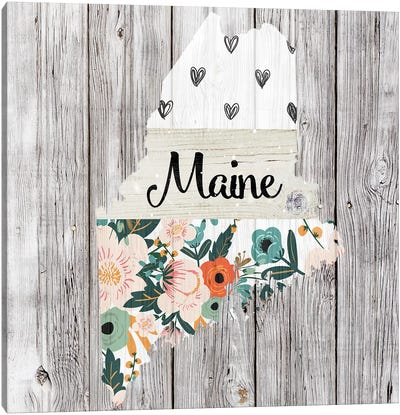 Maine Canvas Art Print