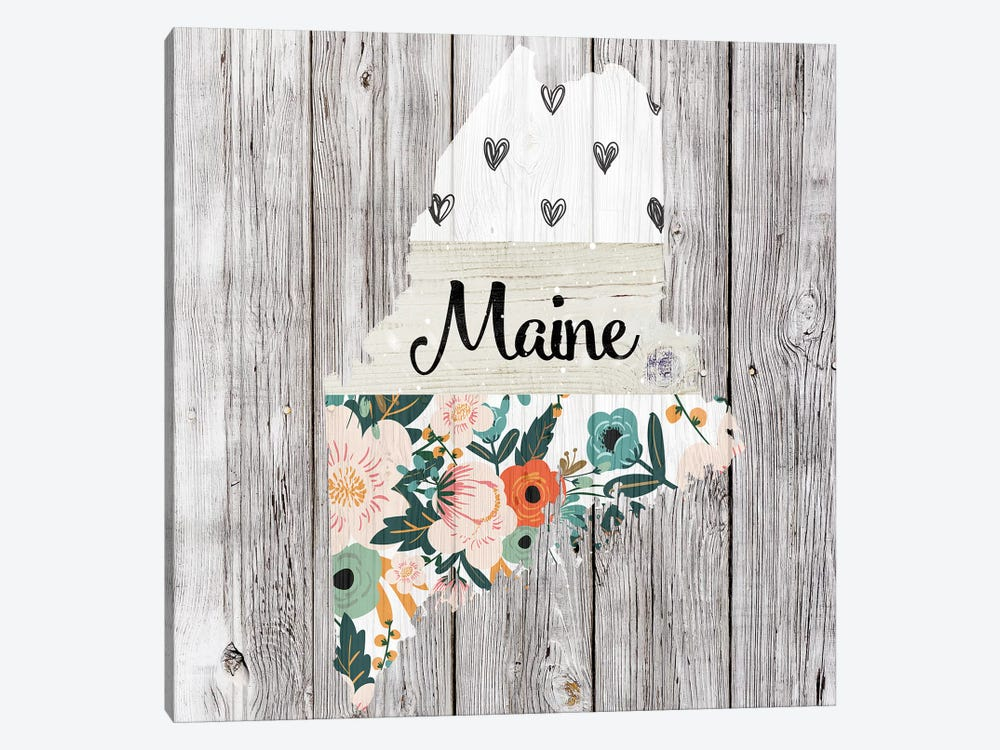 Maine by Front Porch Pickins 1-piece Canvas Artwork