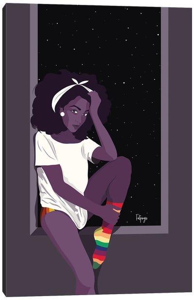Rainbow Socks Canvas Art Print