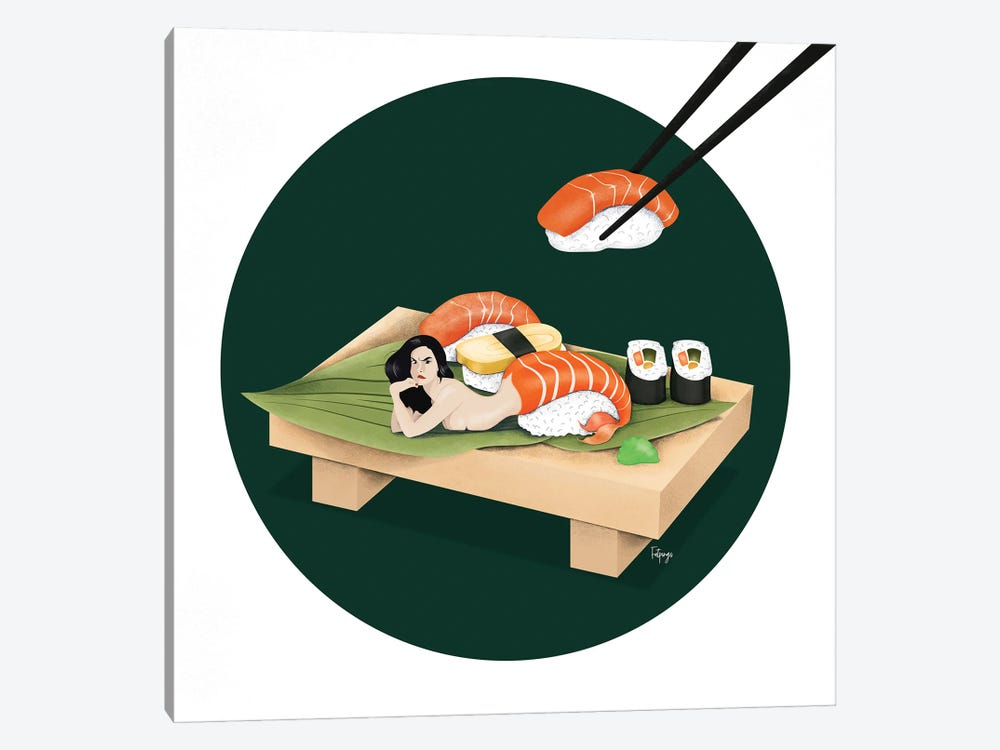 Sushi by Fatpings Studio 1-piece Canvas Print