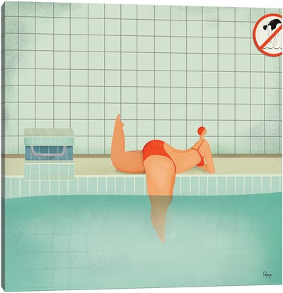Swimmer I Canvas Art Print