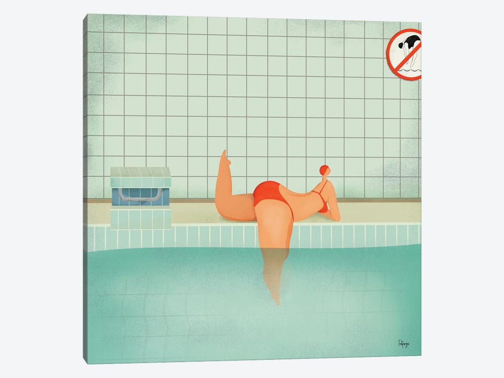 Swimmer I by Fatpings Studio 1-piece Art Print