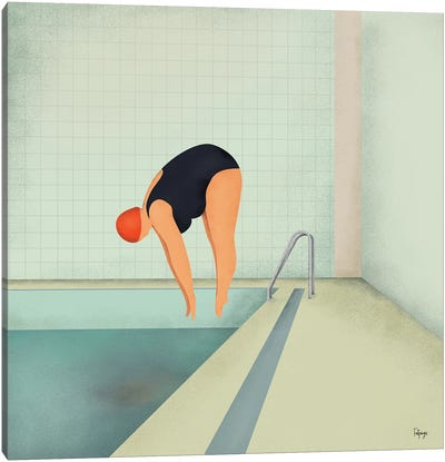 Swimmer II Canvas Art Print