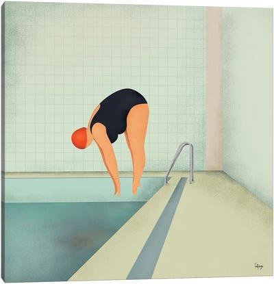 Swimmer II Canvas Art Print