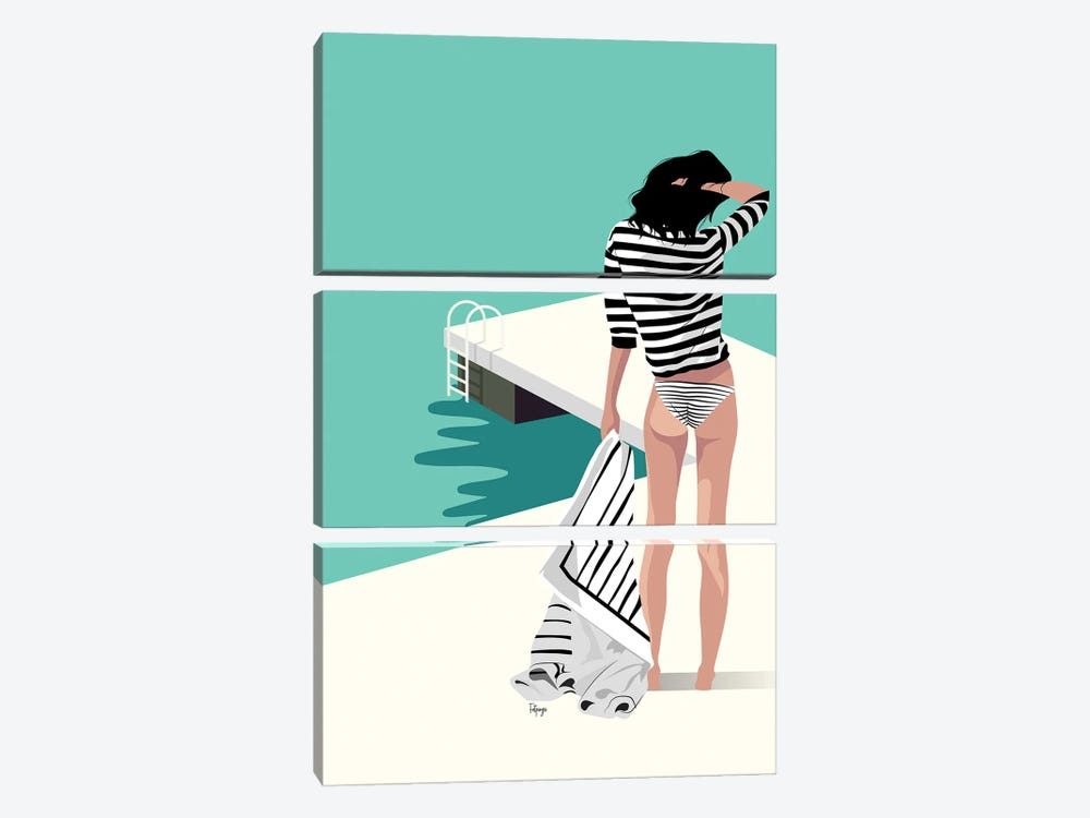 The Pier by Fatpings Studio 3-piece Canvas Art Print