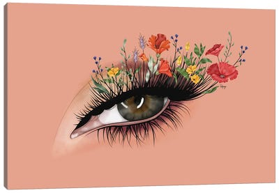 Wild Flower Lashes Canvas Art Print
