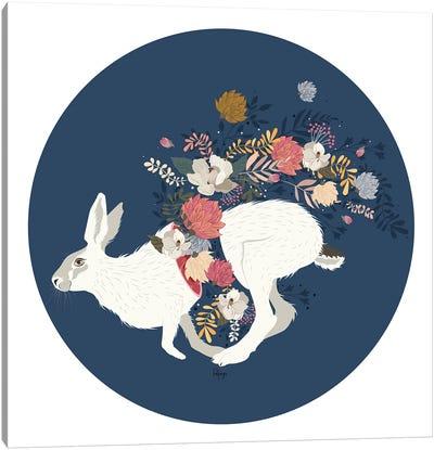 Wild Flowers - Blue Canvas Art Print