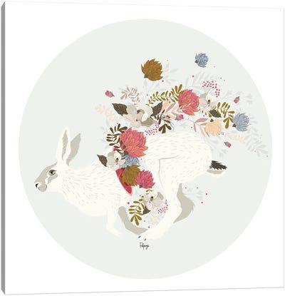Wild Flowers - Grey Canvas Art Print