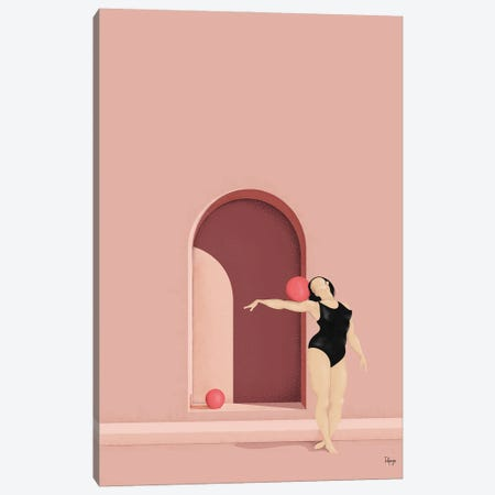 Balance Series - Blush Canvas Print #FPS2} by Fatpings Studio Canvas Print