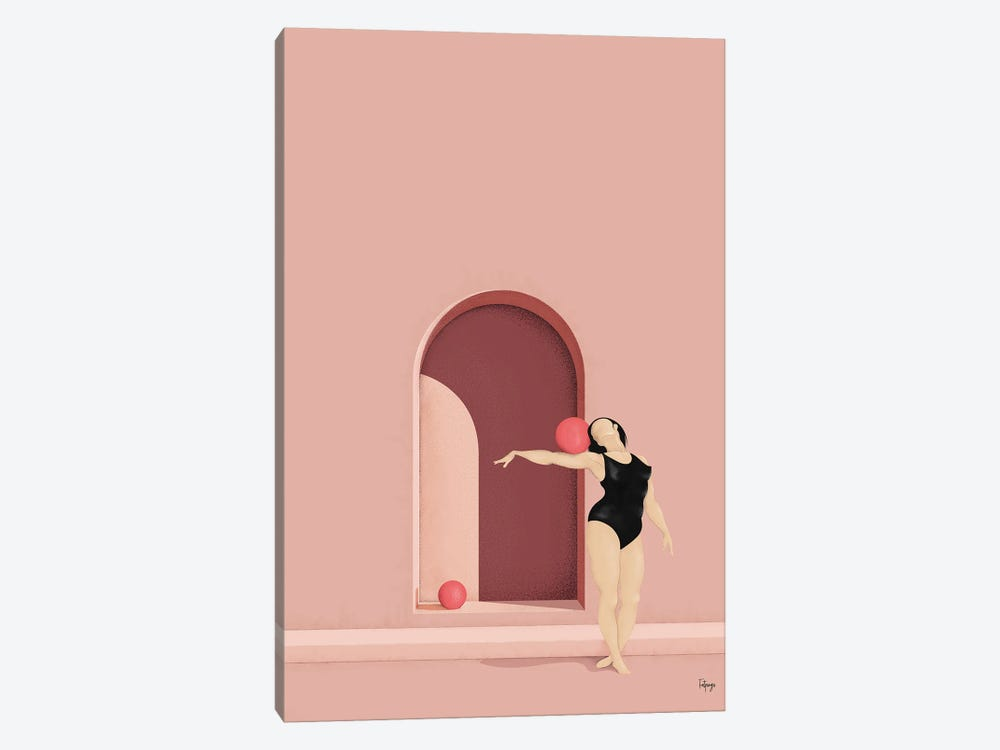 Balance Series - Blush by Fatpings Studio 1-piece Canvas Print
