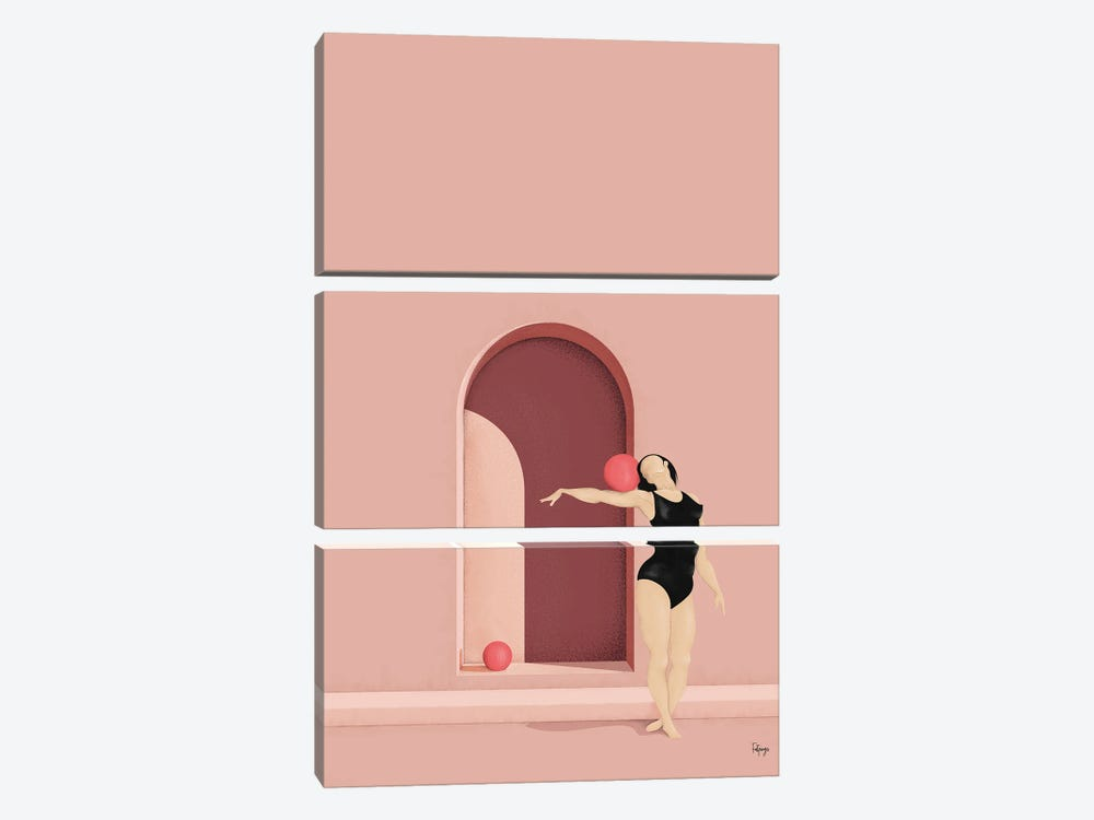 Balance Series - Blush by Fatpings Studio 3-piece Canvas Art Print
