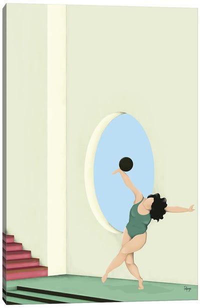 Balance Series - Green Canvas Art Print
