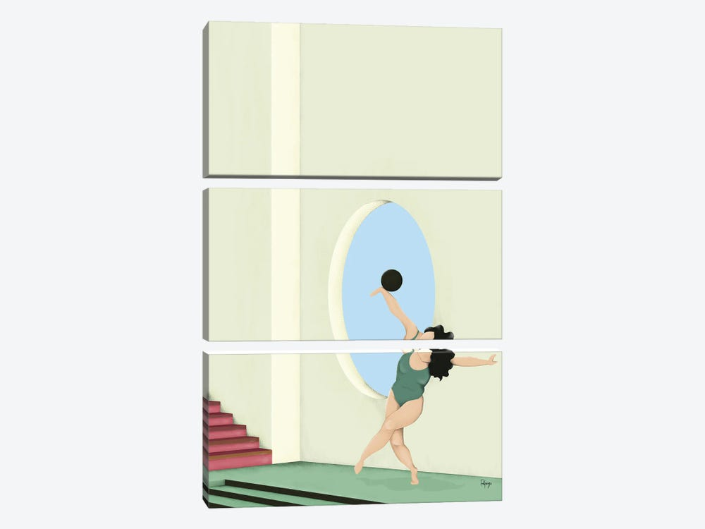 Balance Series - Green by Fatpings Studio 3-piece Canvas Wall Art