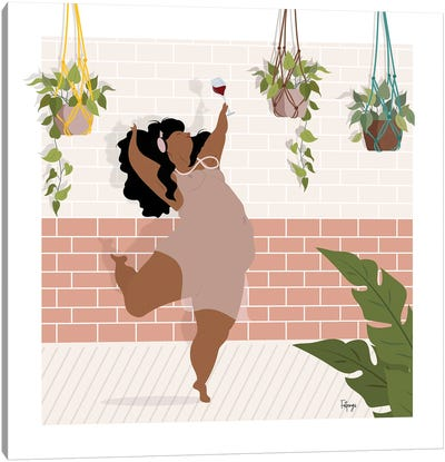 Wine & Dance Canvas Art Print