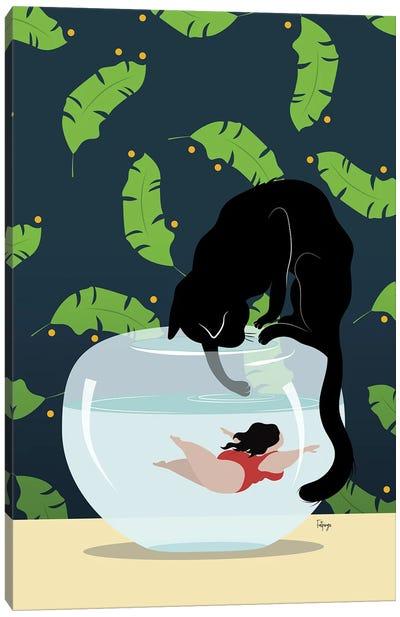 Just Keep Swimming Canvas Art Print