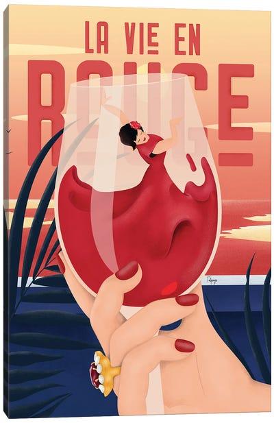 La Vie En Rouge Canvas Art Print