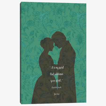 Jane Eyre - Love Quotes - Charlotte Brontë Canvas Print #FPT101} by Fanitsa Petrou Canvas Art Print