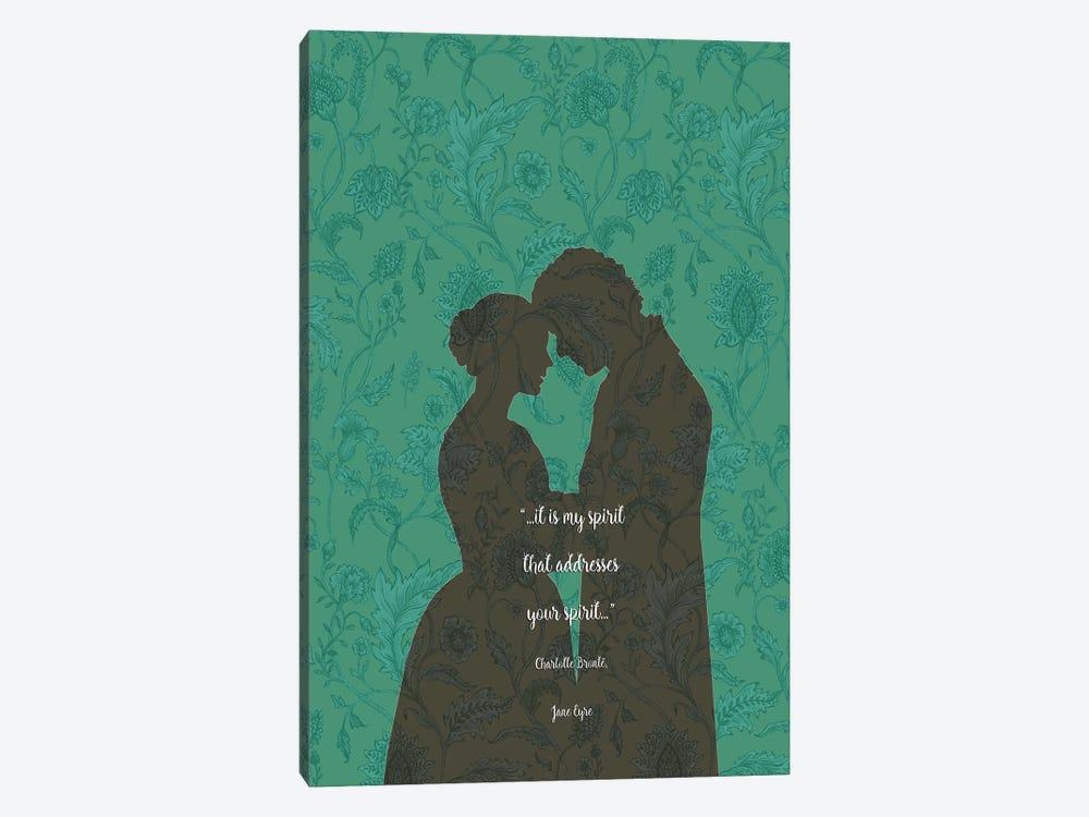 Jane Eyre - Love Quotes - Charlotte Brontë by Fanitsa Petrou 1-piece Canvas Wall Art