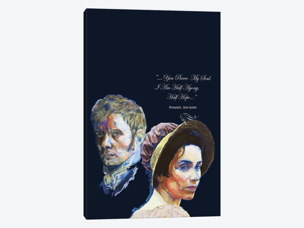 Jane Austen - Love Quote - Persuasion by Fanitsa Petrou 1-piece Canvas Print