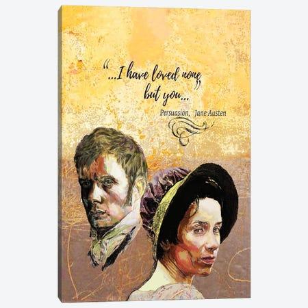 Jane Austen - Love Quote - Persuasion - B Canvas Print #FPT103} by Fanitsa Petrou Canvas Print